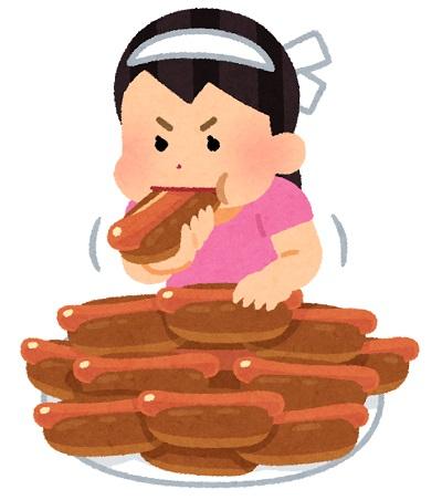 日本人女性、ホットドッグ早食い大会で7連覇してしまうwww